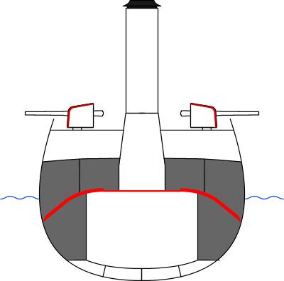 Файл:Схема бронирования бронепалубных крейсеров.png