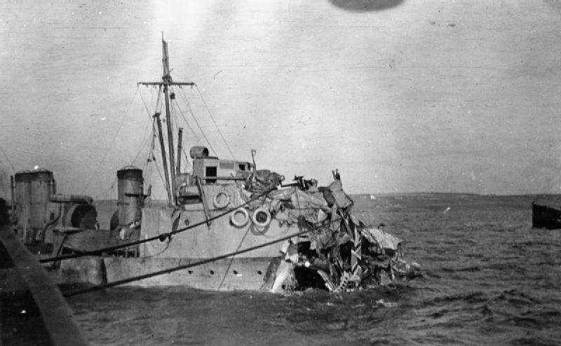 Файл:HMS Albacore damage WWI IWM SP 000403.jpg