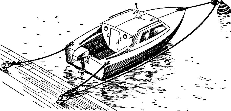 как правильно пришвартовать лодку