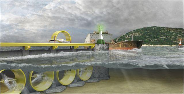 В приливных электростанциях