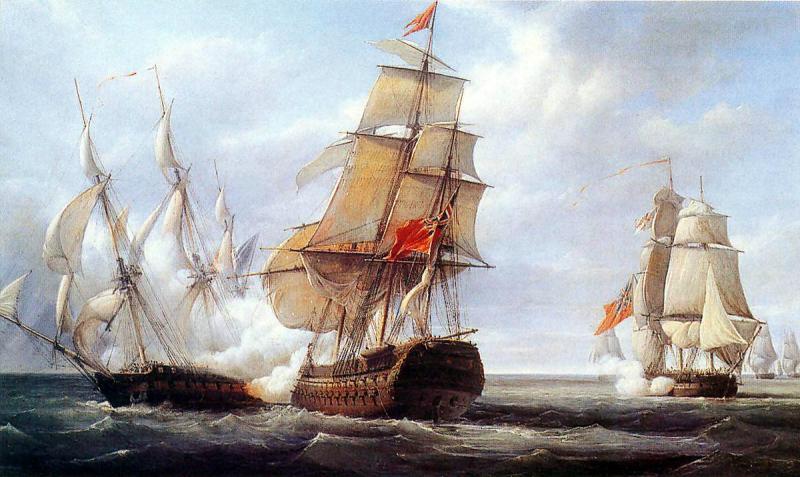 Файл:Combat d'Ouessant juillet 1778 par Theodore Gudin.jpg