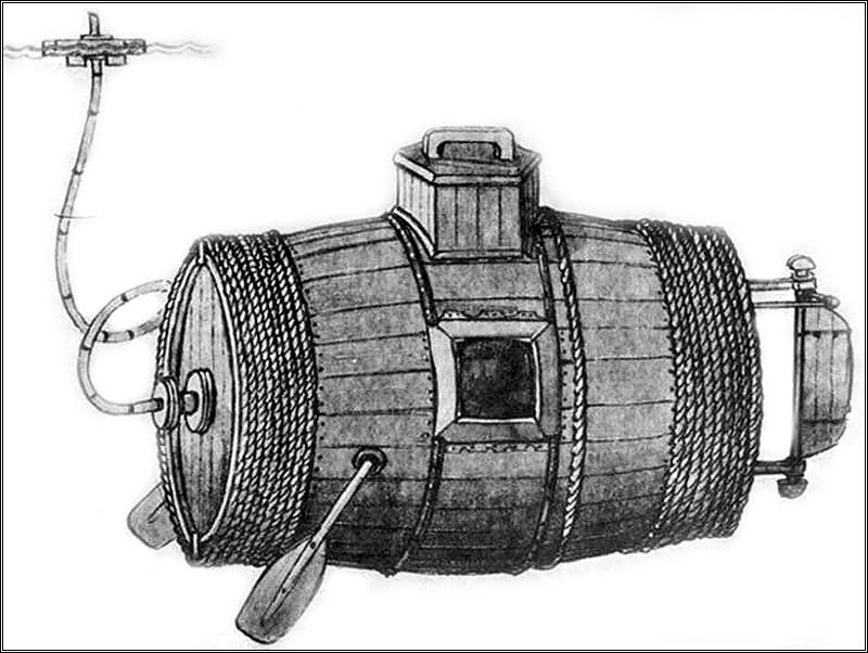 что появилось раньше подводная лодка или парашют