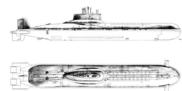 подводная лодка 941 акула чертеж