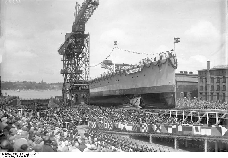 Файл:Спуск «Дойчланда» на воду. 19 мая 1931 г..jpeg