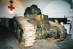 A Panzerkampfwagen B-2, showing the additional frontal armour above the main gun. This example was Number 114 of Panzer-Abteilung 213. It is now owned by Bovington Tank Museum, and shown here on display at the Jersey War Tunnels.jpg