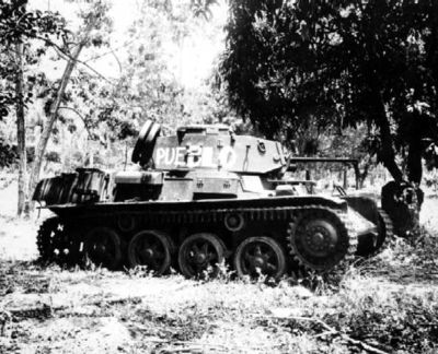 Strv m/40 in service with Dominican forces