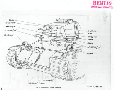 Armor schematics of the Strv /40L