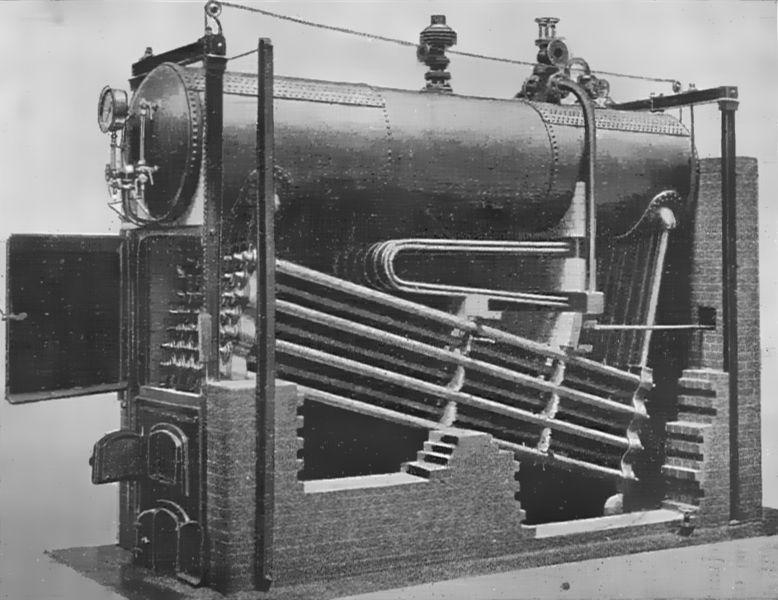 Файл:Babcock and Wilcox boiler (Heat Engines, 1913).jpg