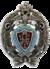 Серебряный знак за окончание курса Морского инженерного училища императора Николая 1.