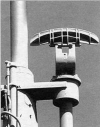 Антенна радиолокатора SJ, предназначенного для обнаружения надводных целей.