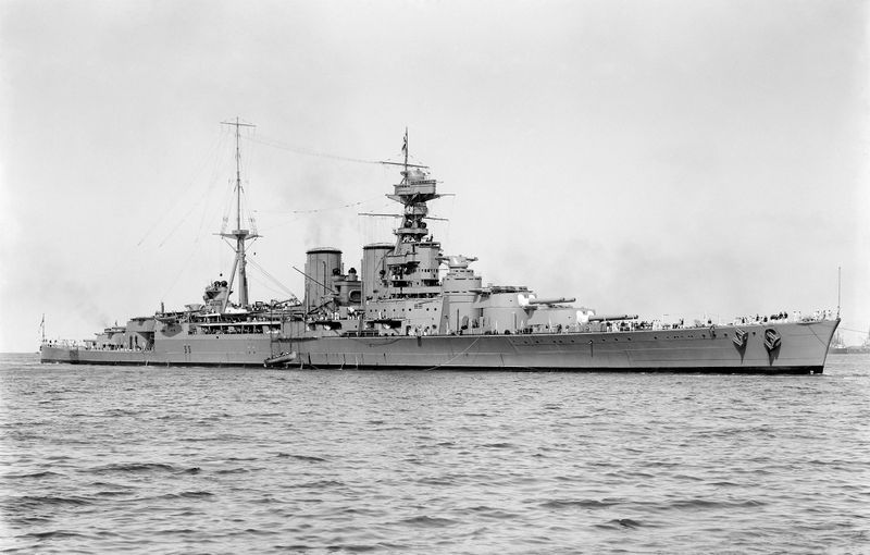 Файл:HMS Hood (51) - March 17, 1924.jpg