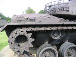 This tank lacks the track tensioning idler wheel found on the earlier Patton tanks. The number of track return rollers has also been reduced to three..jpg