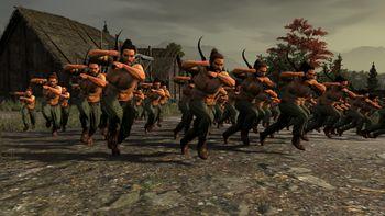 Воины с фалькасами