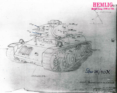 Armor schematics of the Strv m/40K