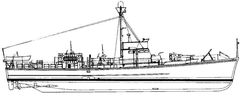 охотник за подводными лодками проекта 122
