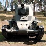 BT-7 Finnish BT-42 assault gun, built on the BT-7 chassis..jpg