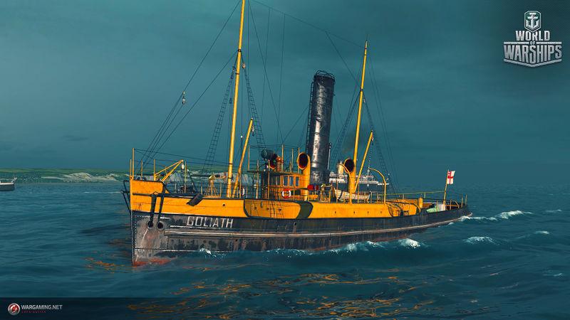 Файл:WG WoWS SPb Screenshots Misk Ships 1920x1080px Goliath.jpg