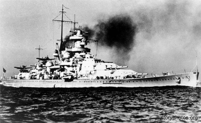 Файл:Scharnhorst испытания, с носа.png