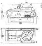 Leichttraktor Rheinmetall Leichttraktor measurements 1932.jpg