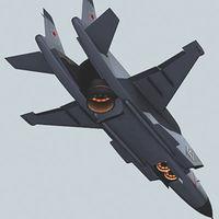 Як-141 в режиме висения