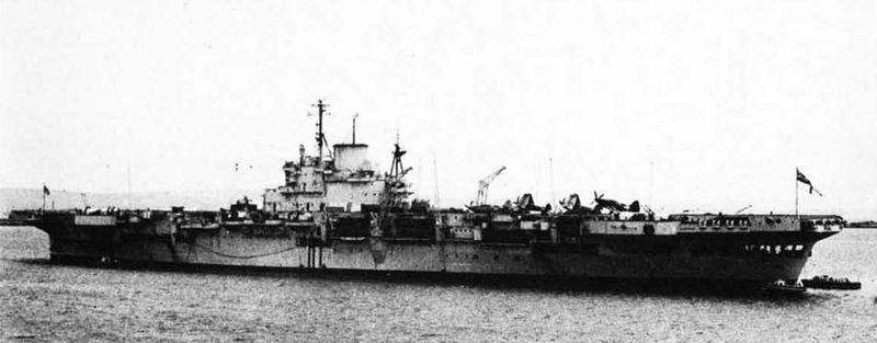 Файл:HMS Illustrious at Portland july 1949.jpg