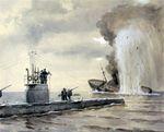 Потопление_подводной_лодкой_«Волк»_германского_транспорта.jpg