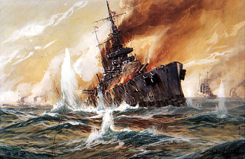 Sinking-of-HMS-Indefatigable-by-Willy-Stower-web.jpg