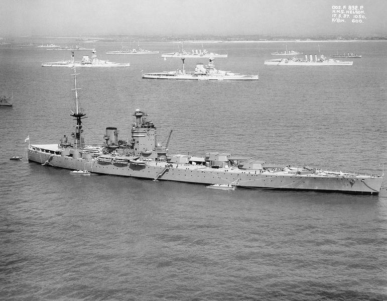 Файл:HMS Nelson off Spithead for the Fleet Review 1937.jpg