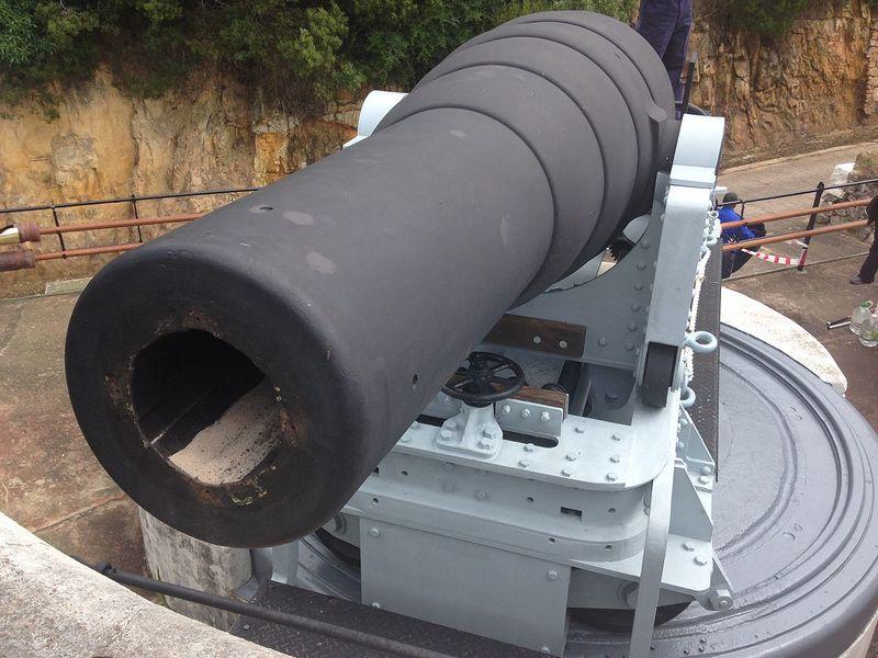 Файл:9 Inch MLR Gun, Simonstown.JPG