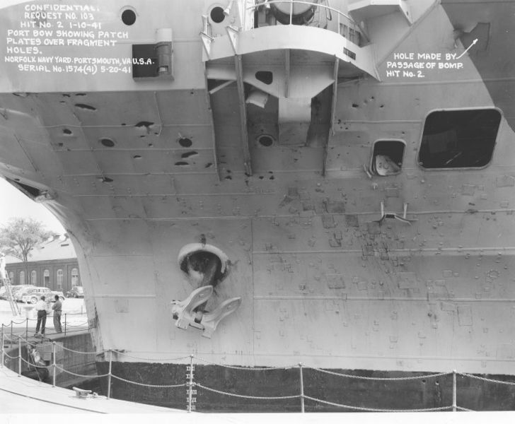 Файл:May 20 1941 HMS Illustrious in drydock at the Norfolk Naval Shipyard to repair damage from the January.jpg