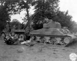 An M4 Sherman taken out of service to replace the Continental R975C engine.jpg