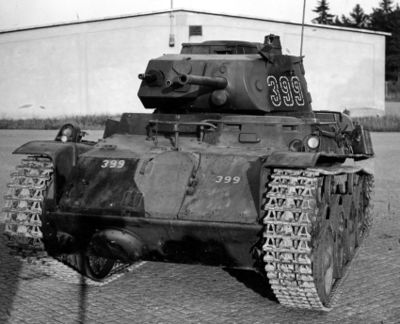 Strv m/40L with applique armour