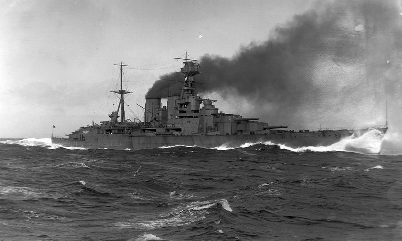Файл:HMS Hood on trial on the Firth of Clyde.jpg