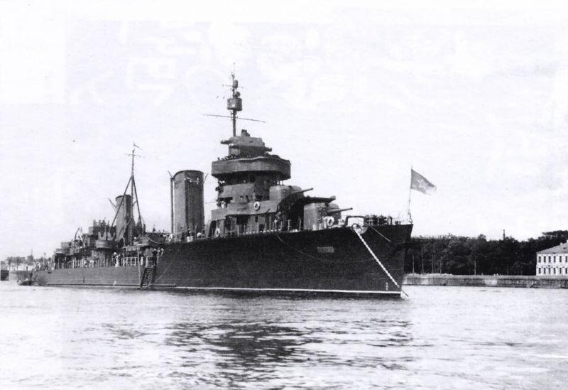 Файл:Лидер эскадренных миноносцев Минск на Неве, 1945 год.jpg