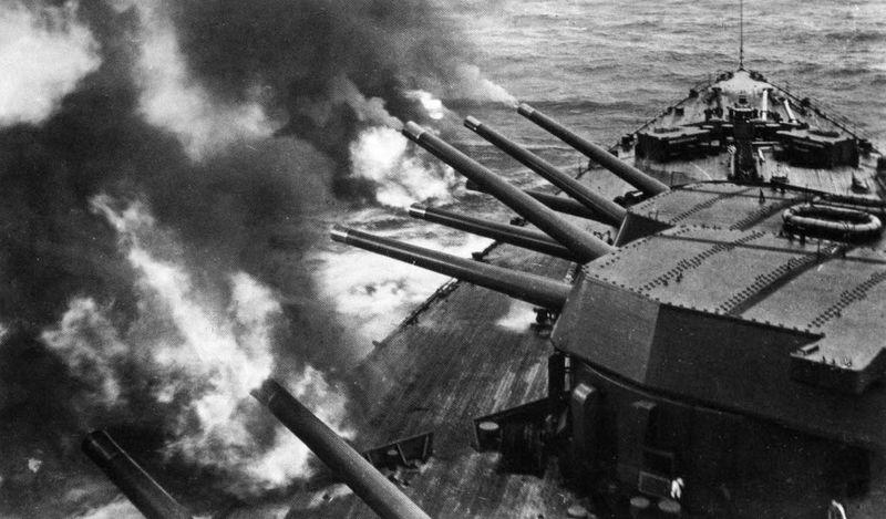 Файл:Main guns salvo HMS Rodney.jpg