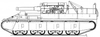 Original SU-14 design with the 203mm Howitzer