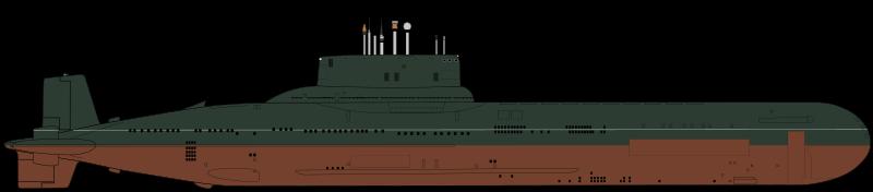 Атомная подводная лодка ТК-208 «Дмитрий Донской» по проекту 941 «Акула». Классификация НАТО: SSBN «Typhoon»