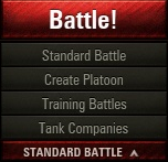 The drop-down menu below the big battle button