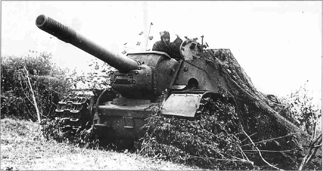 German 50 Mm Anti Tank Gun: File:Su-152 Assault Gun, In Ambush Under Heavy Cammo At