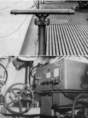 Шумопеленгатор JP-1 (гидрофон, поворотное устройство и усилитель)
