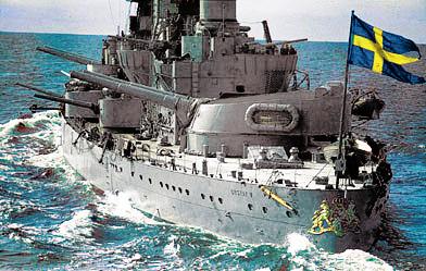 """283 mm орудие установленное на Броненосце береговой обороны """"Gustav V"""""""