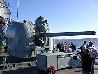 Орудие 127-мм АУ Mk. 42, установленное на фрегат