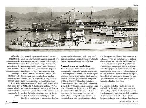 Статья о спуске на воду 1937 Монитор Паранаиба