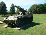 M41 155 mm howitzer in the US Army Ordnance Museum..JPG