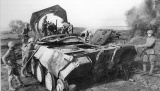 Panther tank destroyed at Kursk