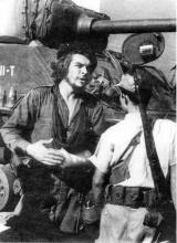 M4A3E8 Che guevarra in front of the E8 tank
