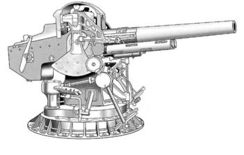 Орудие Mark 17 калибром 127-мм с длиной ствола 25 калибров