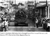 M4A3E8 Castro enters Santa Claka in Sherman tanks