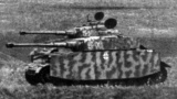 Panzer 4 ausf. H tanks in the tight formation on the battlefield