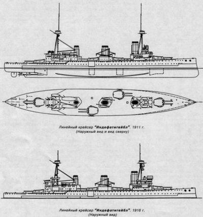 Схема корпуса HMS Indefatigable